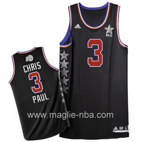 Canotte nba All Star Game 2015 Chris Paul #3 nero