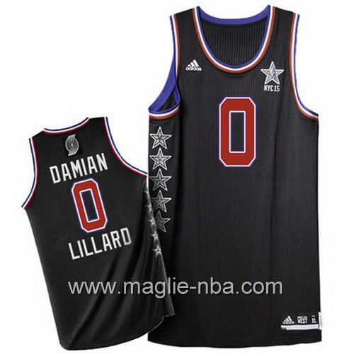 Canotte nba All Star Game 2015 Damian Lillard #0 nero