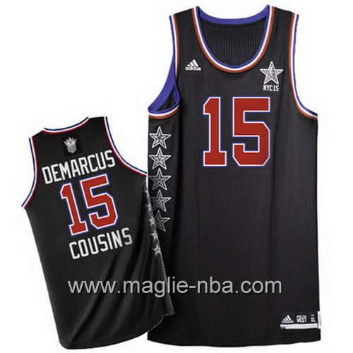 Canotte nba All Star Game 2015 DeMarcus Cousins #15 nero