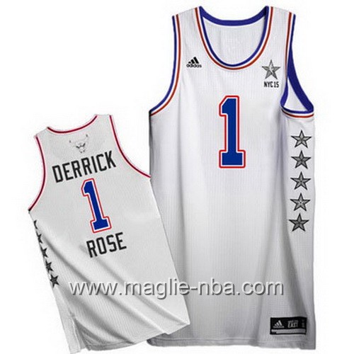 Canotte nba All Star Game 2015 Derrick Rose #1 bianco
