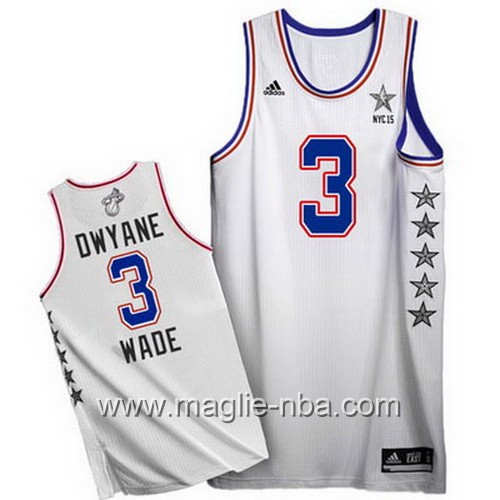 Canotte nba All Star Game 2015 Dwyane Wade #3 bianco