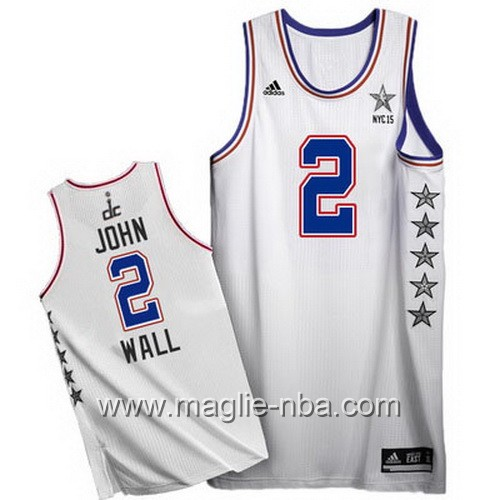 Canotte nba All Star Game 2015 John Wall #2 bianco