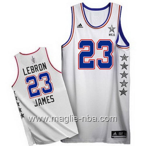 Canotte nba All Star Game 2015 LeBron James #23 bianco