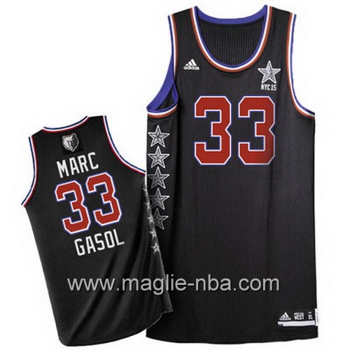 Canotte nba All Star Game 2015 Marc Gasol #33 nero
