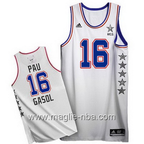 Canotte nba All Star Game 2015 Pau Gasol #16 bianco