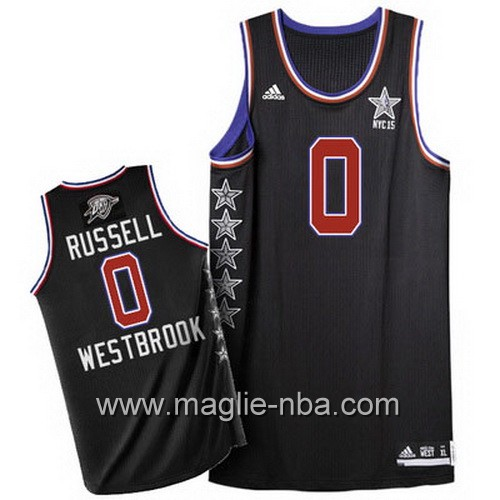 Canotte nba All Star Game 2015 Russell Westbrook #0 nero