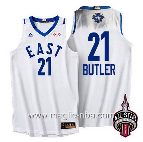 Canotte nba All Star Game 2016 East Jimmy Butler #21 bianco
