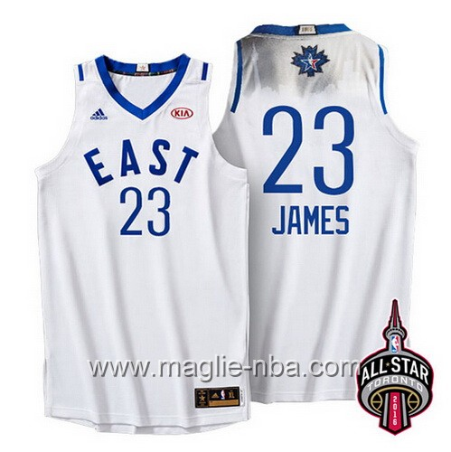 Canotte nba All Star Game 2016 East LeBron James #23 bianco