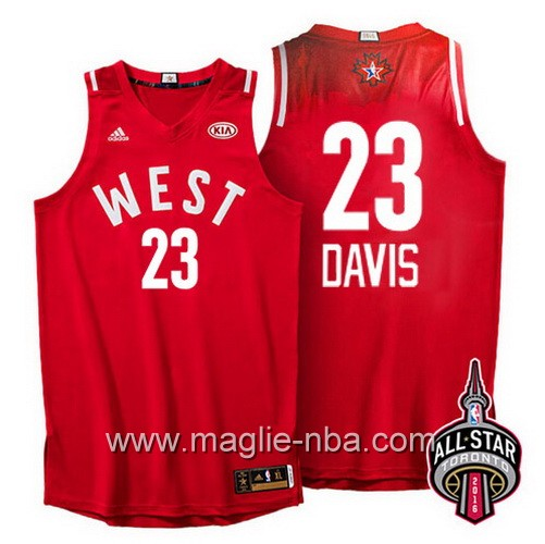 Canotte nba All Star Game 2016 West Anthony Davis #23 rosso