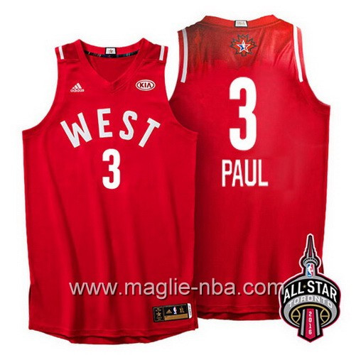 Canotte nba All Star Game 2016 West Chris Paul #3 rosso