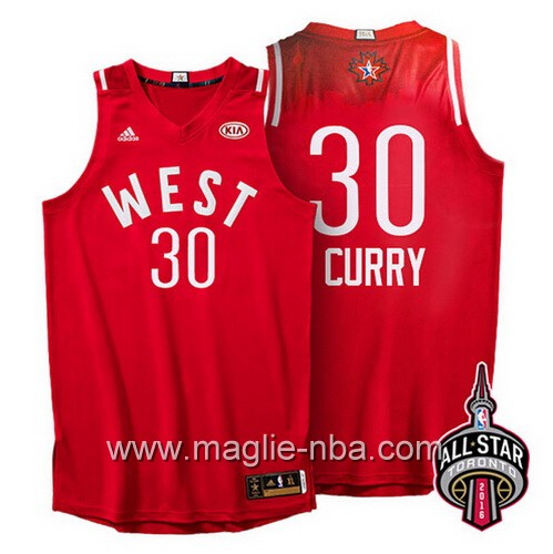 Canotte nba All Star Game 2016 West Stephen Curry #30 rosso