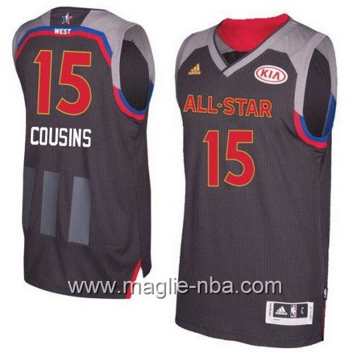 Canotte nba All Star Game 2017 West DeMarcus Cousins #15 nero