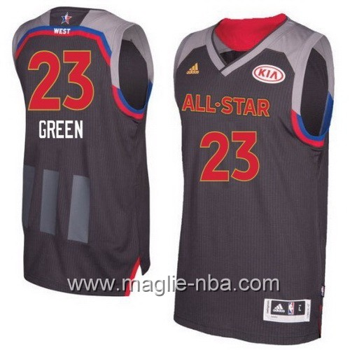 Canotte nba All Star Game 2017 West Draymond Green #23 nero