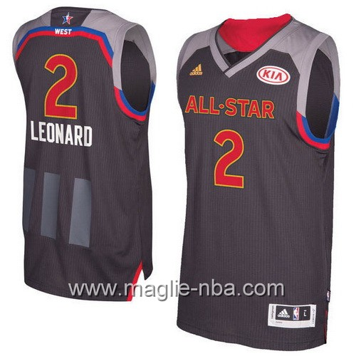 Canotte nba All Star Game 2017 West Kawhi Leonard #2 nero