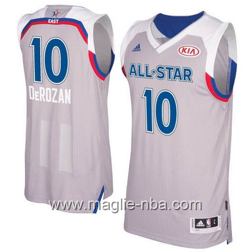 Canotte nba All Star Game 2017 East DeMar DeRozan #10 grigio