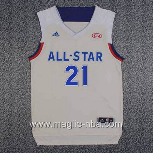 Canotte nba All Star Game 2017 East Joel Embiid #21 grigio