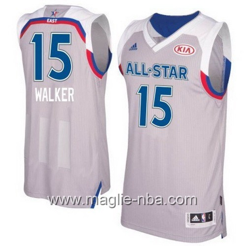 Canotte nba All Star Game 2017 East Kemba Walker #15 grigio