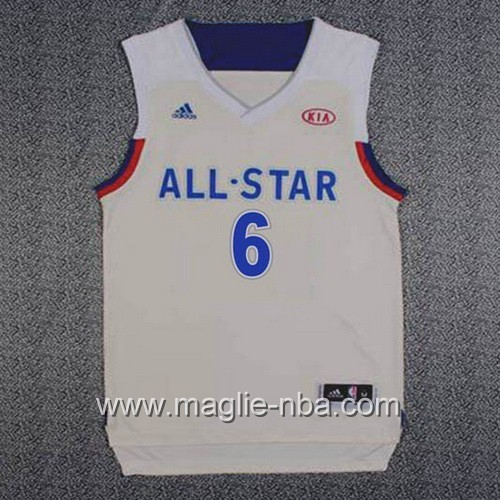 Canotte nba All Star Game 2017 East Kristaps Porzingis #6 grigio