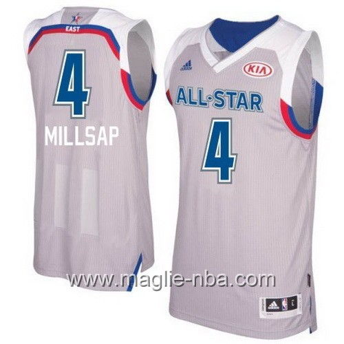 Canotte nba All Star Game 2017 East Paul Millsap #4 grigio