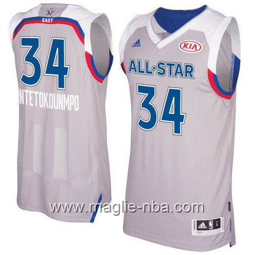 Canotte nba All Star Game 2017 East Giannis Antetokounmpo #34 grigio