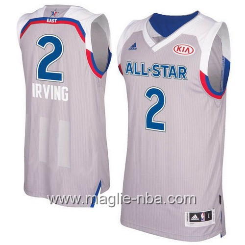 Canotte nba All Star Game 2017 East Kyrie Irving #2 grigio