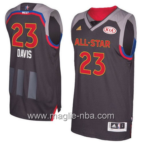Canotte nba All Star Game 2017 West Anthony Davis #23 nero