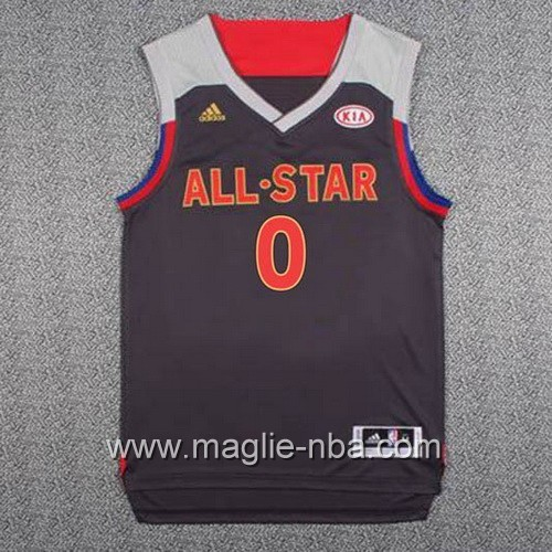 Canotte nba All Star Game 2017 West Damian Lillard #0 nero