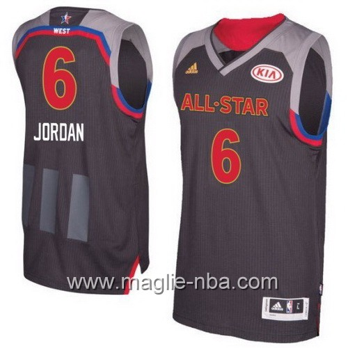 Canotte nba All Star Game 2017 West DeAndre Jordan #6 nero