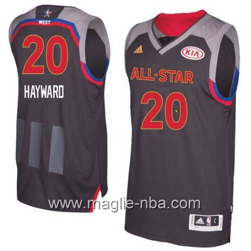 Canotte nba All Star Game 2017 West Gordon Hayward #20 nero