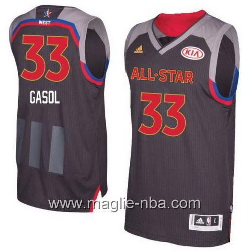 Canotte nba All Star Game 2017 West Marc Gasol #33 nero