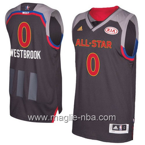 Canotte nba All Star Game 2017 West Russell Westbrook #0 nero
