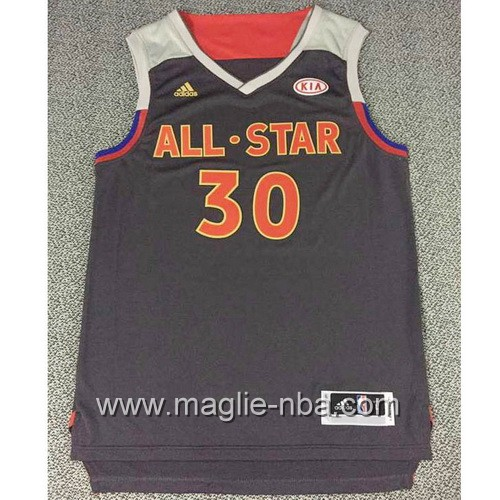 Canotte nba All Star Game 2017 West Stephen Curry #30 nero