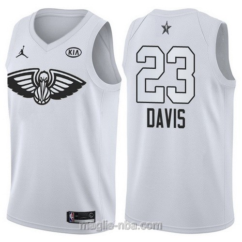 Canotte nba all star game 2018 Anthony Davis #23 New Orleans Pelicans bianco