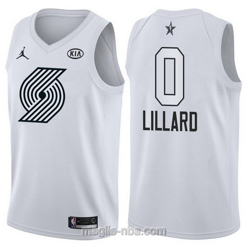 Canotte nba all star game 2018 Damian Lillard #0 Portland Trail Blazers bianco