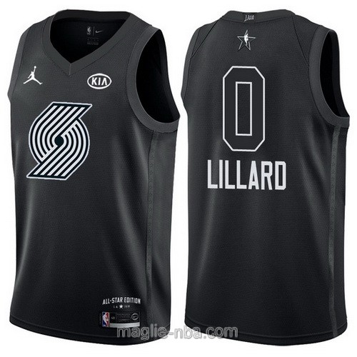Canotte nba all star game 2018 Damian Lillard #0 Portland Trail Blazers nero