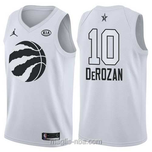Canotte nba all star game 2018 DeMar DeRozan #10 Toronto Raptors bianco