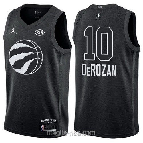 Canotte nba all star game 2018 DeMar DeRozan #10 Toronto Raptors nero