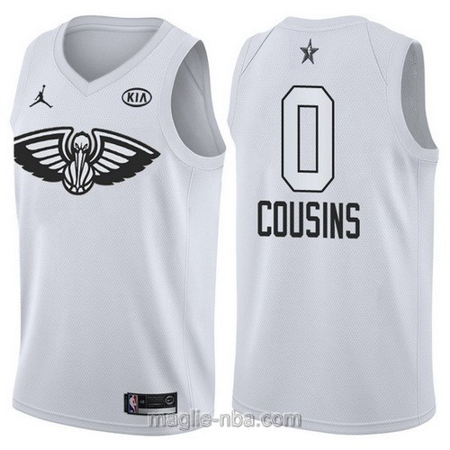 Canotte nba all star game 2018 DeMarcus Cousins #0 New Orleans Pelicans bianco