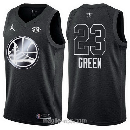 Canotte nba all star game 2018 Draymond Green #23 Golden State Warriors nero