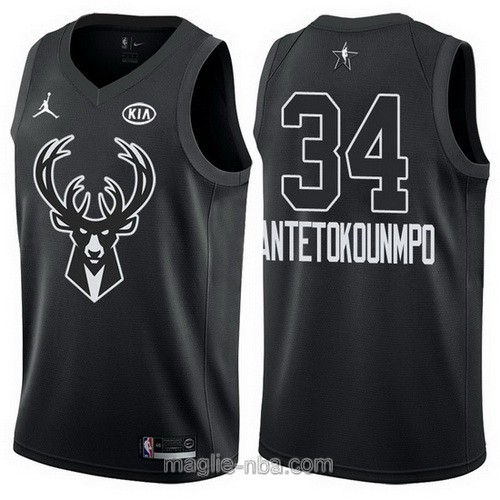 Canotte nba all star game 2018 Giannis Antetokounmpo #34 Milwaukee Bucks nero
