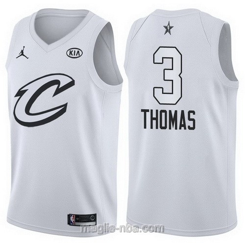 Canotte nba all star game 2018 Isaiah Thomas #3 Cleveland Cavaliers bianco