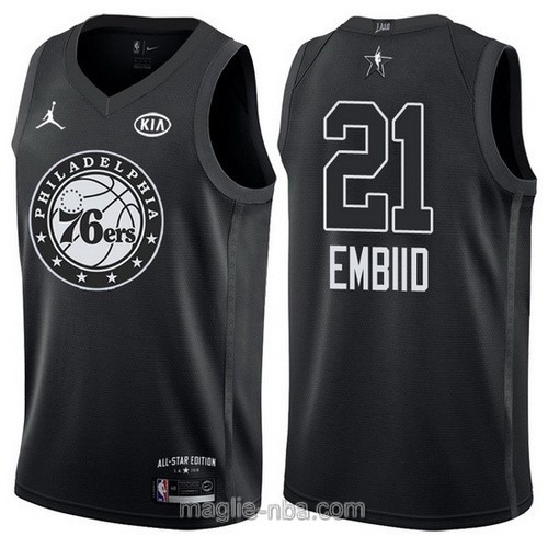 Canotte nba all star game 2018 Joel Embiid #21 Philadelphia 76ers nero