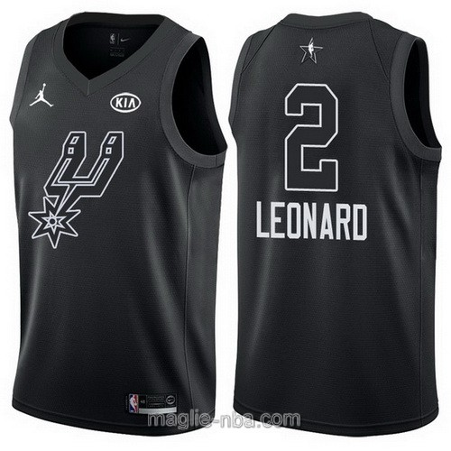 Canotte nba all star game 2018 Kawhi Leonard #2 San Antonio Spurs nero