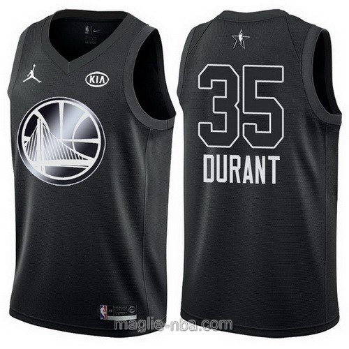 Canotte nba all star game 2018 Kevin Durant #35 Golden State Warriors nero