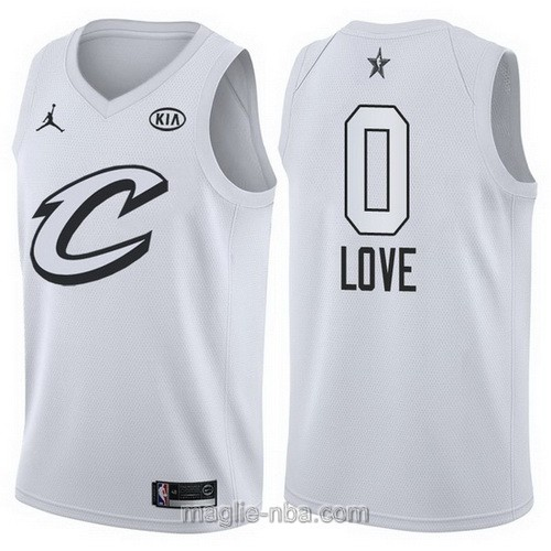 Canotte nba all star game 2018 Kevin Love #0 Cleveland Cavaliers bianco