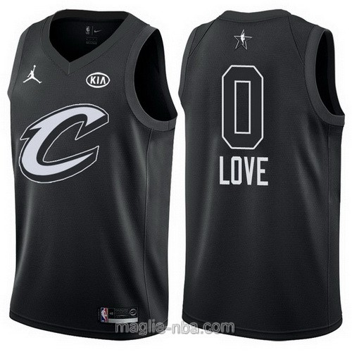 Canotte nba all star game 2018 Kevin Love #0 Cleveland Cavaliers nero