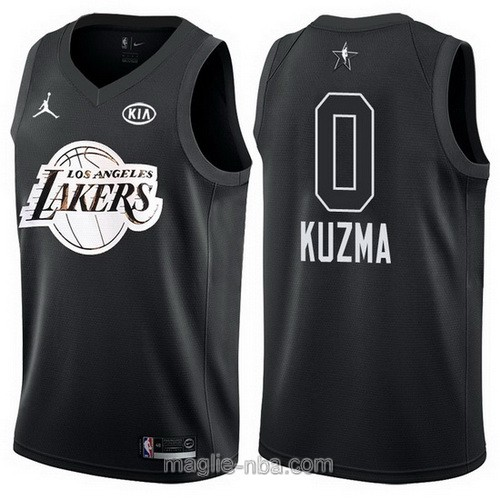 Canotte nba all star game 2018 Kyle Kuzma #0 Los Angeles Lakers nero