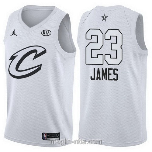 Canotte nba all star game 2018 LeBron James #23 Cleveland Cavaliers bianco