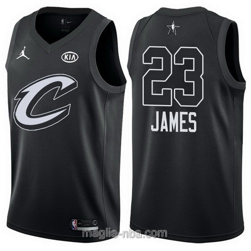 Canotte nba all star game 2018 LeBron James #23 Cleveland Cavaliers nero