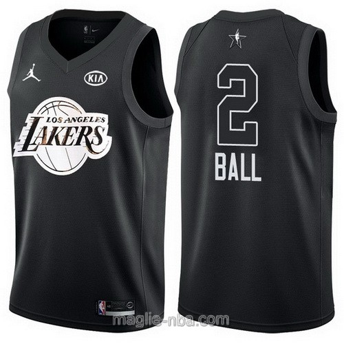 Canotte nba all star game 2018 Lonzo Ball #2 Los Angeles Lakers nero